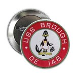 "USS BROUGH 2.25"" Button (100 pack)"
