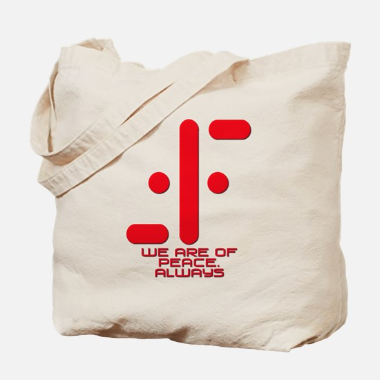 V We Are of Peace Always Tote Bag