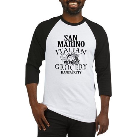 San Marino Italian Grocery Baseball Jersey