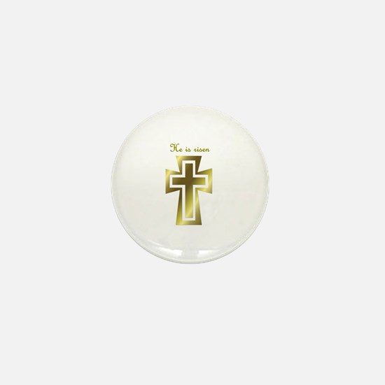He is risen (cross) Mini Button