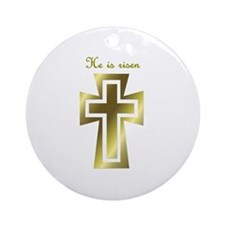 He is risen (cross) Ornament (Round)