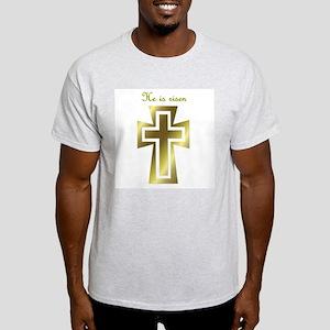 He is risen (cross) Ash Grey T-Shirt
