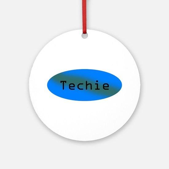 Techie Ornament (Round)