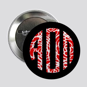 "Alpha Omicron Pi Floral Monogram 2.25"" Button"