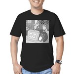 Robots and Gerbils (Not Text) Men's Fitted T-Shirt