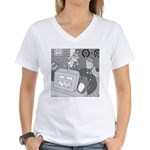 Robots and Gerbils (Not Text) Women's V-Neck T-Shi