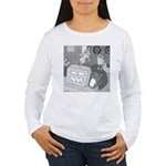Robots and Gerbils (Not Text) Women's Long Sleeve