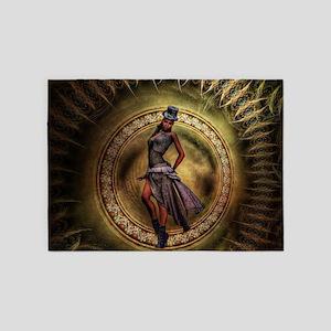 fantasy steampunk lady 5'x7'Area Rug