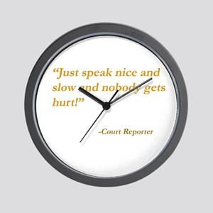 Just speak nice and slow... Wall Clock