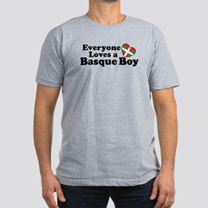 Everyone Loves a Basque Boy Men's Fitted T-Shirt (