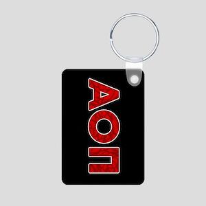 Alpha Omicron Pi Letters Aluminum Photo Keychain