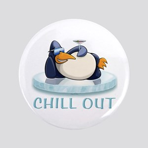 "Chill Out Penguin 3.5"" Button"