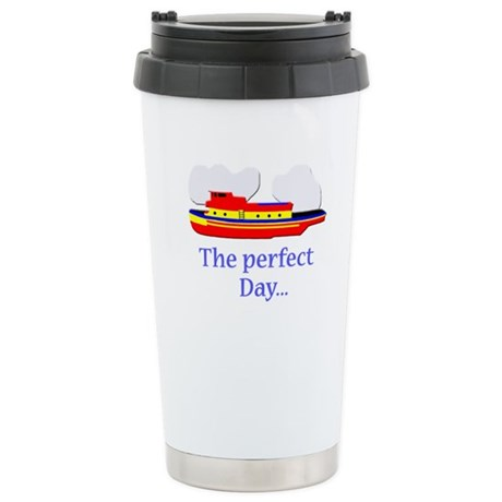 funny tugboat ship Stainless Steel Travel Mug
