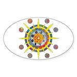 Celtic Stargate Sticker (Oval)