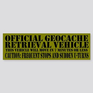 Official Geocache Reteieval Bumper Sticker