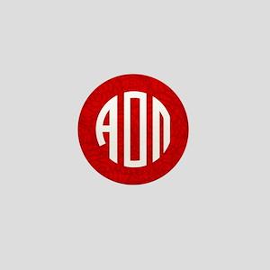 Alpha Omicron Pi Letters Mini Button