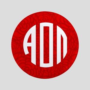 Alpha Omicron Pi Letters Button