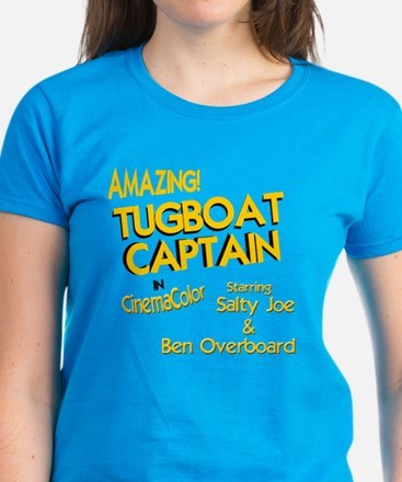 funny tugboat captain Women's Dark T-Shirt