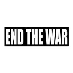 Large End the War repositionable wall graphic