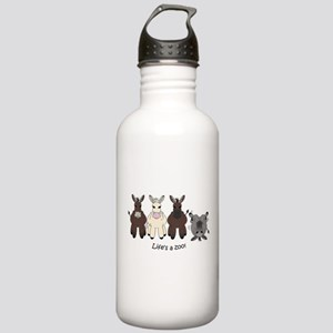 Med. Miniature Donkey Stainless Water Bottle 1.0L