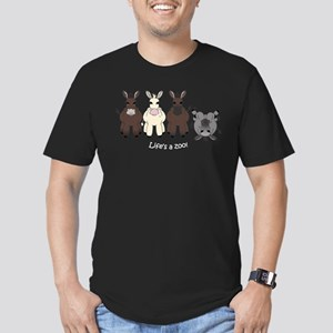 Med. Miniature Donkey Men's Fitted T-Shirt (dark)