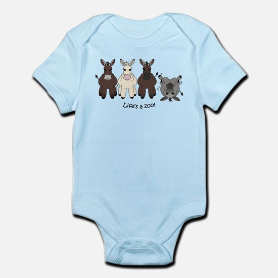 Med. Miniature Donkey Infant Bodysuit