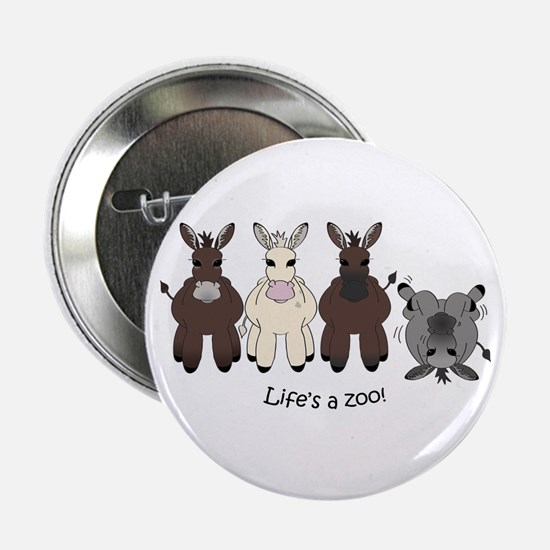 """Med. Miniature Donkey 2.25"""" Button"""