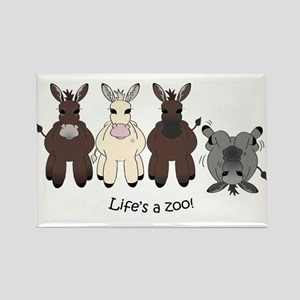 Med. Miniature Donkey Rectangle Magnet