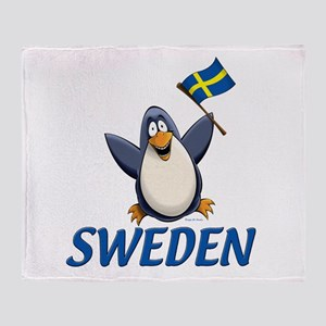 Sweden Penguin Throw Blanket