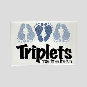 Triplet Boys - More Fun Rectangle Magnet