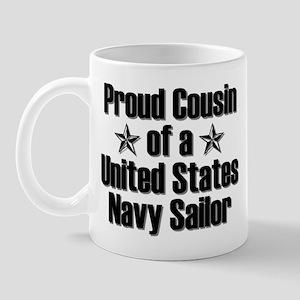Proud Navy Cousin Star Mug