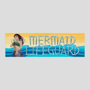 Mermaid Lifeguard 36x11 Wall Decal