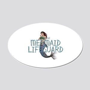 Mermaid Lifeguard 20x12 Oval Wall Decal