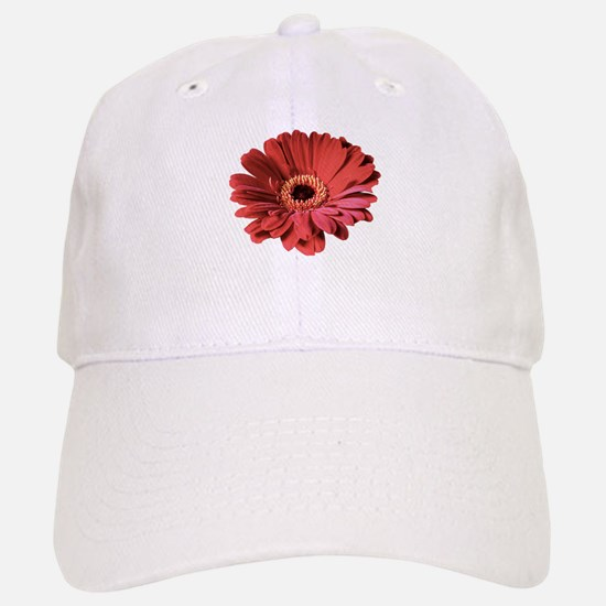 Red gerbera flower Baseball Baseball Cap