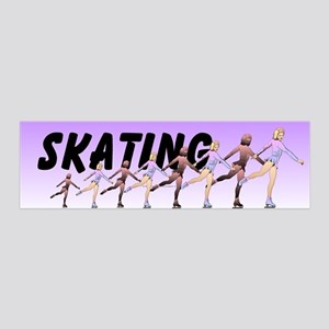 TOP Figure Skating 36x11 Wall Decal
