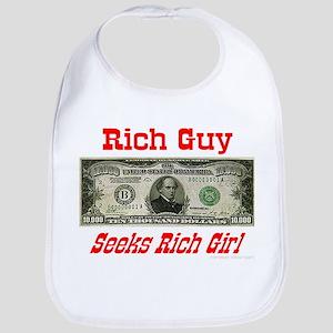 Rich Guy Seeks Rich Girl Bib