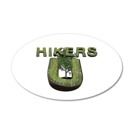 Hikers University 20x12 Oval Wall Decal