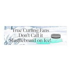 Curling Slogan Wall Decal