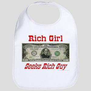 Rich Girl Seeks Rich Guy Bib