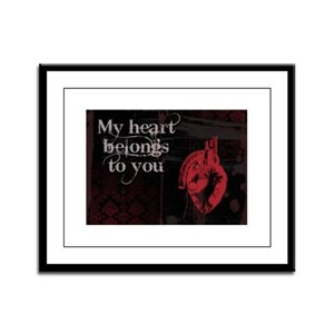 Gothic Heart belongs to you Framed Panel Print