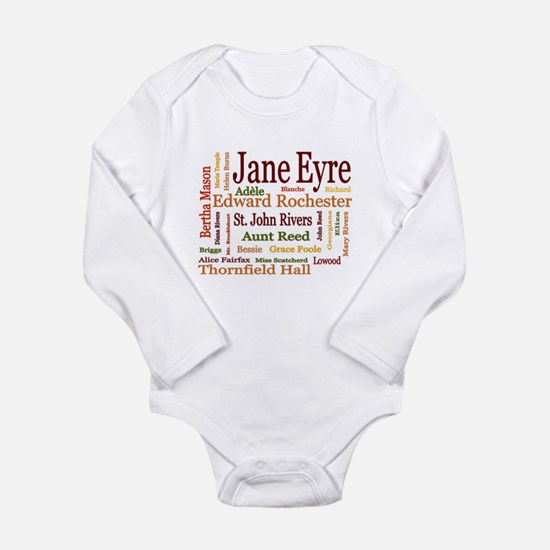 Jane Eyre Characters Long Sleeve Infant Bodysuit