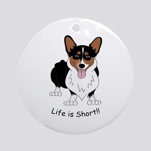 Tri-Colored Corgi Ornament (Round)
