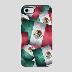 Grunge-Style Flag of Mexico - iPhone 7 Tough Case