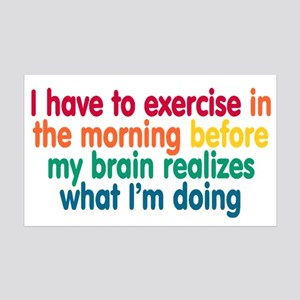 Early Morning Exercise 35x21 Wall Decal