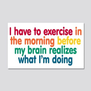 Early Morning Exercise 20x12 Wall Decal