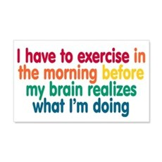 Early Morning Exercise Wall Sticker