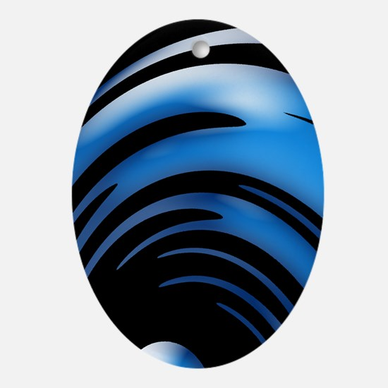 Blue Dyno Ornament (Oval)