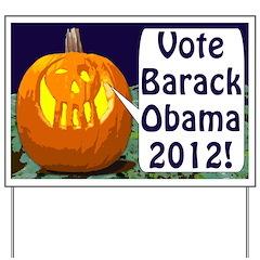 Pumpkins for Obama 2012 Yard Sign