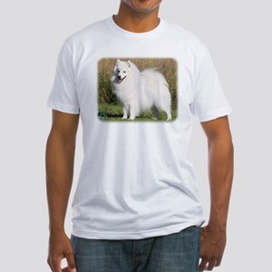 Japanese Spitz 9Y576D-261 Fitted T-Shirt