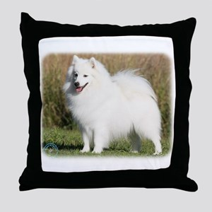 Japanese Spitz 9Y576D-261 Throw Pillow